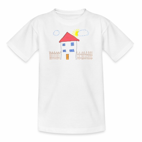 Das Familienhaus Haus Kindheit - Kinder T-Shirt