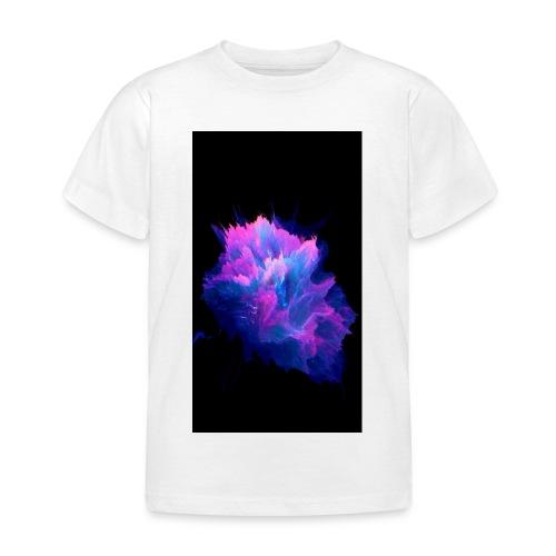 Purple and blue paint splat - Kids' T-Shirt