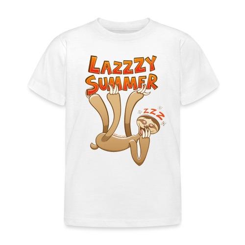 Sleepy sloth yawning and enjoying a lazy summer - Kids' T-Shirt
