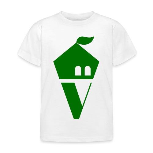 Villekula Logo in Grün auf Schwarz - Kinder T-Shirt