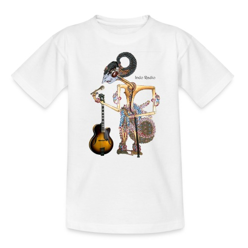 wayangtest zwart letters png - Kinderen T-shirt