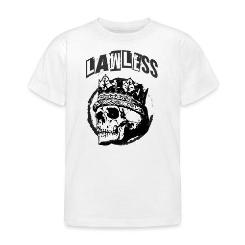 Lawless Skull gesetzlos Totenkopf - Kinder T-Shirt