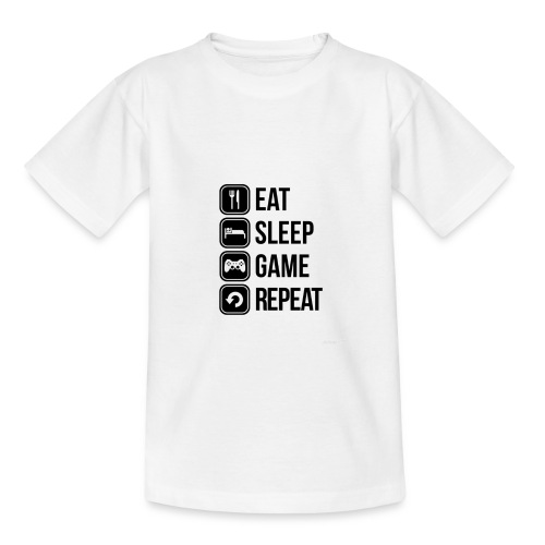 Eat Sleep Game Repeat Collection - Kids' T-Shirt