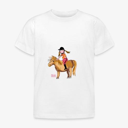 petite fille et poney - T-shirt Enfant