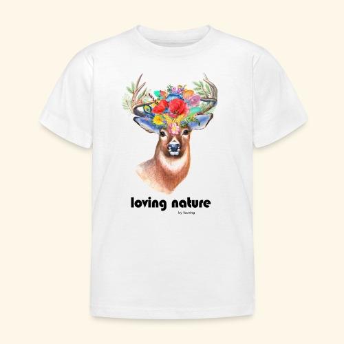 Ciervo con flores - Camiseta niño