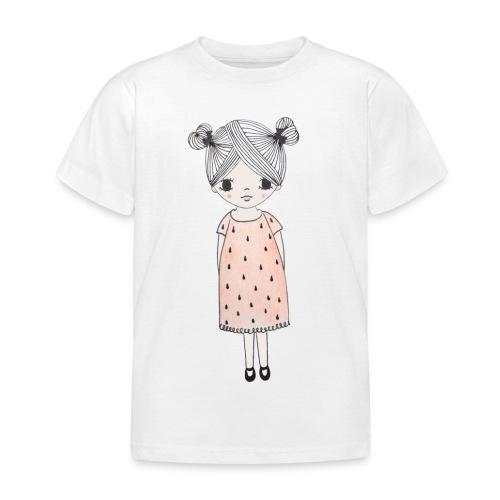 lachend meisje met knotjes - Kinderen T-shirt