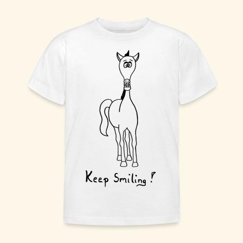 Funny Horse Keep Smiling - Kinder T-Shirt
