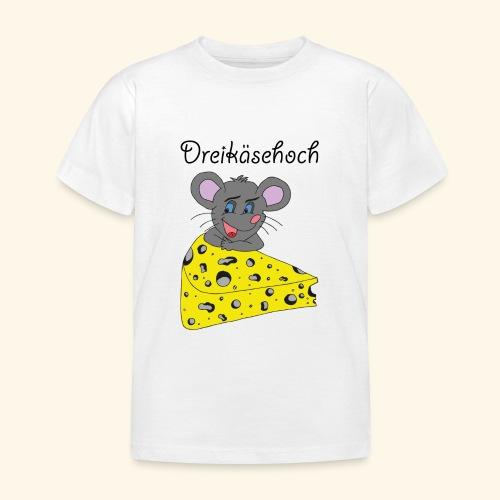 Dreikäsehoch - schwarze Schrift - Kinder T-Shirt