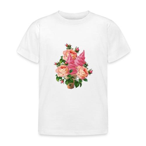 bouquet di fiori e gelati - Maglietta per bambini
