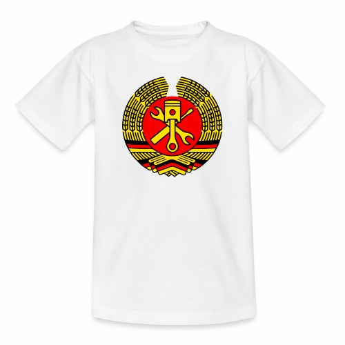 DDR Tuning Coat of Arms 3c (+ Your Text) - Kids' T-Shirt