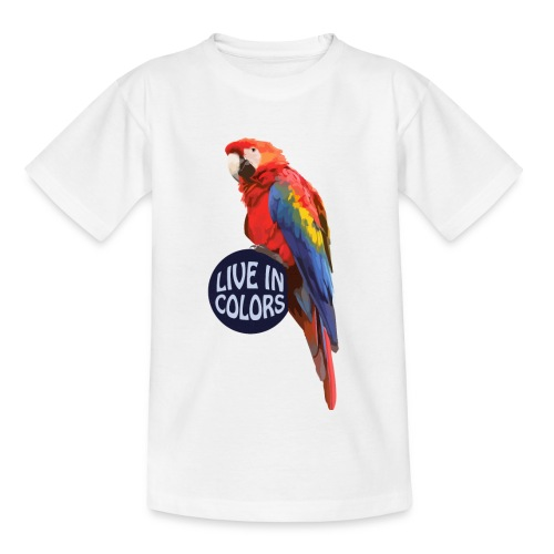 Parrot - Live in colors - Kids' T-Shirt