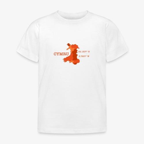 Cymru - Latitude / Longitude - Kids' T-Shirt