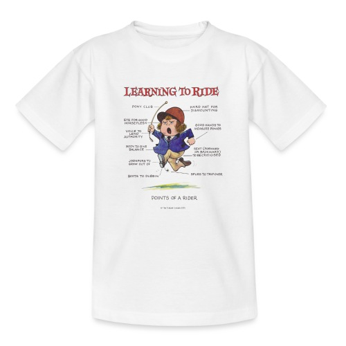 Thelwell Cartoon Learning to ride - Kinder T-Shirt