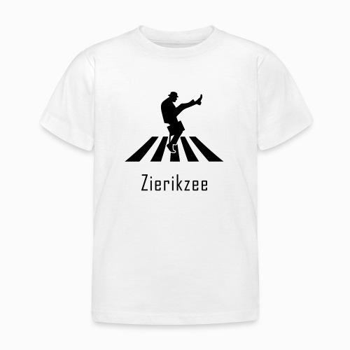 Silly walk zebrapad verkeersbord Zierikzee Zeeland - Kinderen T-shirt