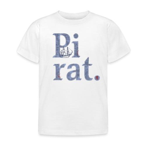 Pirat mit Schiff - Kinder T-Shirt