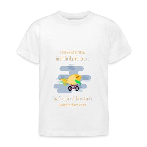 Der Fahrrad-Fisch - Kinder T-Shirt
