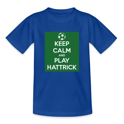 keep calm and play hattrick - Maglietta per bambini