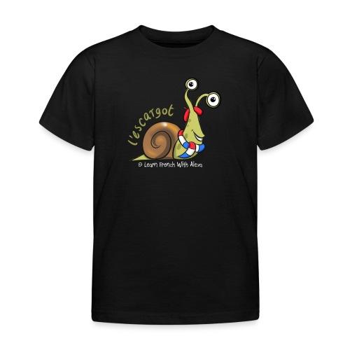 snail boopee white large - Kids' T-Shirt