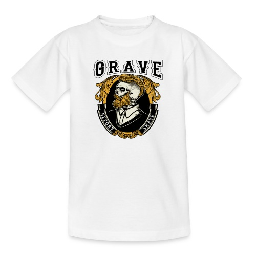 Grave Before Shave Bearded - Kinder T-Shirt