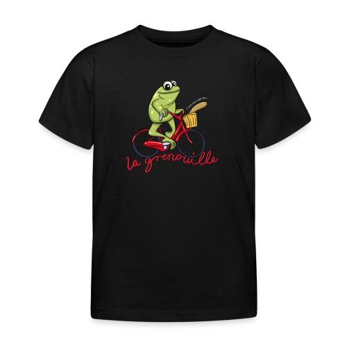 frog boopee white large - Kids' T-Shirt