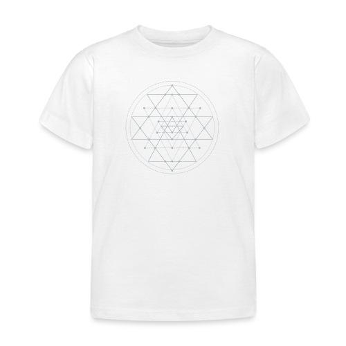 Harmaa geometrinen Shri Yantra -kuvio - Lasten t-paita