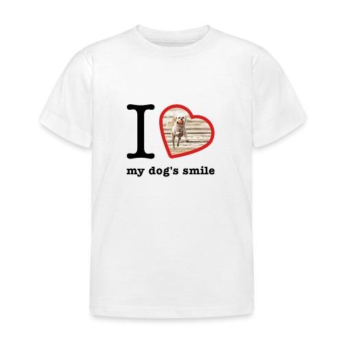 I love my dog's smile :) dog smile - Kids' T-Shirt