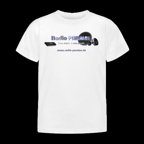Radio PARALAX Facebook-Logo mit Webadresse - Kinder T-Shirt