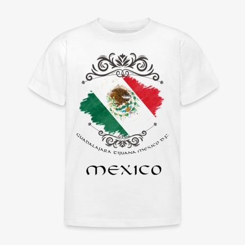 Mexico Vintage Bandera - Kinder T-Shirt