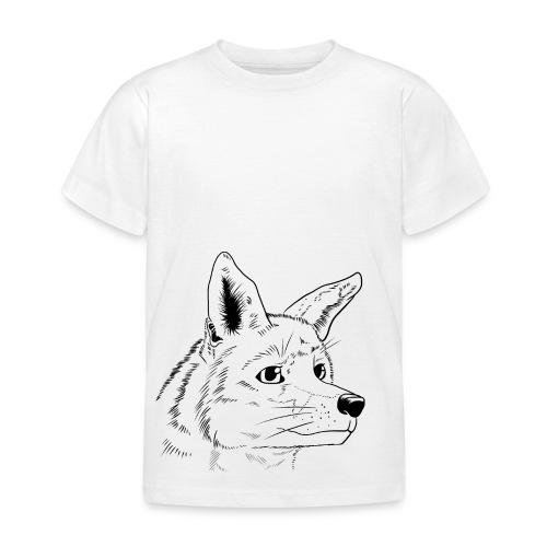 Strichzeichnung Fuchs - Kinder T-Shirt