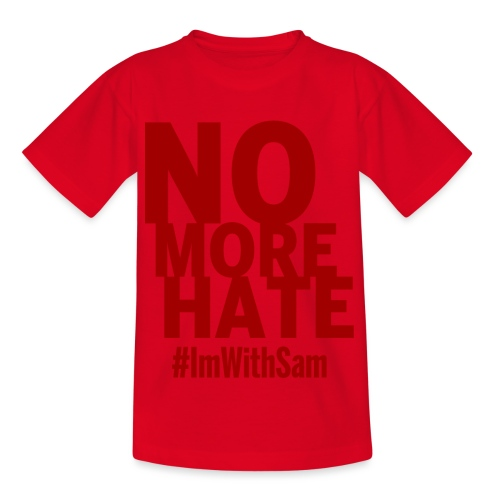 No More Hate- Red Text - Kids' T-Shirt