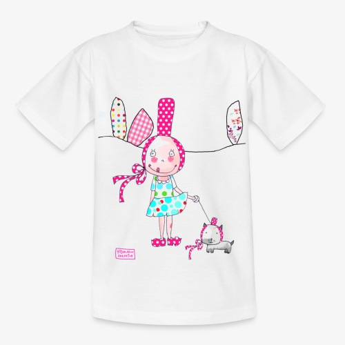 fille et chat - T-shirt Enfant