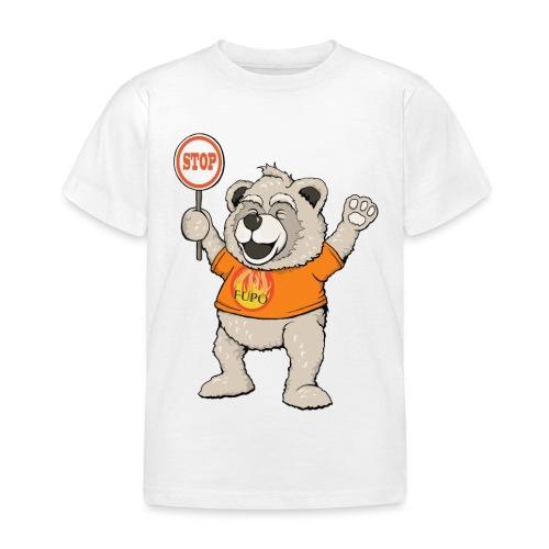 FUPO der Bär. Druckfarbe bunt - Kinder T-Shirt