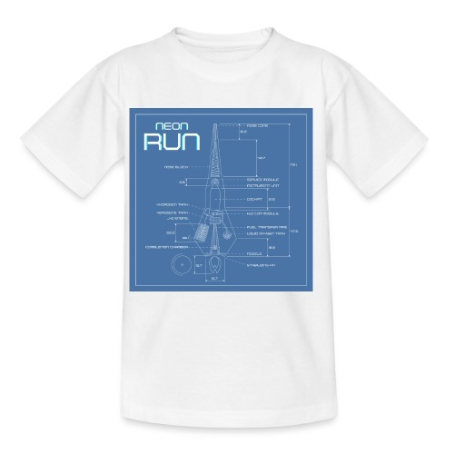 NeonRun blueprint - Kinderen T-shirt