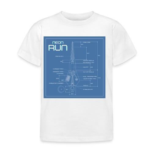 NeonRun blueprint - Kinderen T-shirt