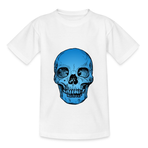 Blue Skull - Maglietta per bambini
