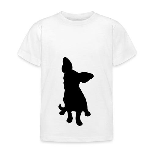 Chihuahua istuva musta - Lasten t-paita
