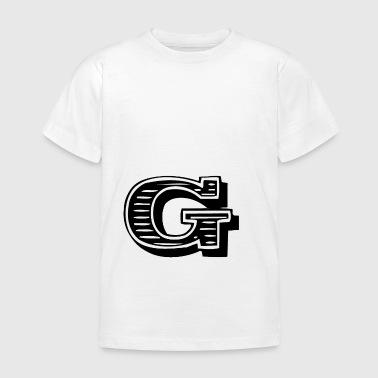 lettera G - Maglietta per bambini