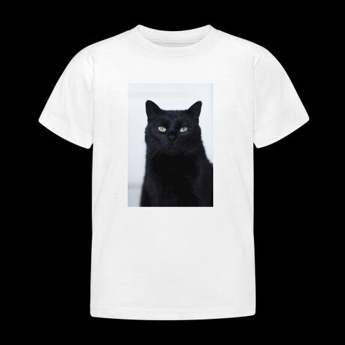 Schwarze Katze - Kinder T-Shirt