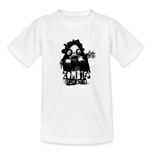 zombies - Cant live with em - T-shirt barn