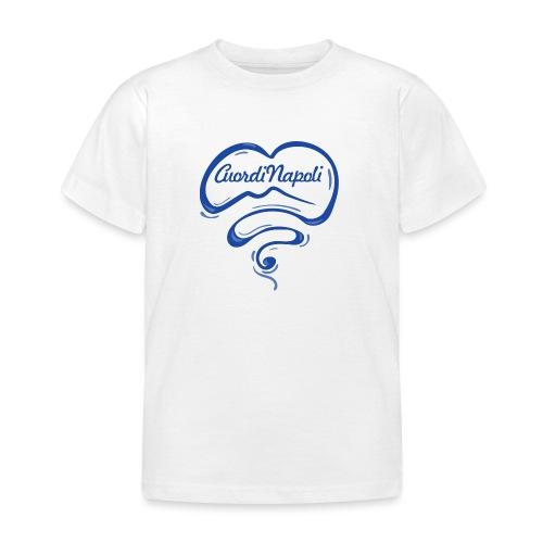 New Logo CuordiNapoli Blu - Maglietta per bambini
