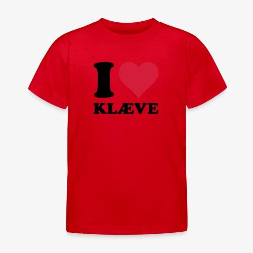 i love kleive - T-skjorte for barn