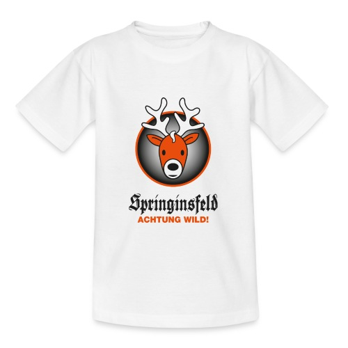 Achtung wild! for white - Kinder T-Shirt