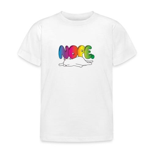 Katzenmotiv Lustig Fun Bunt Regenbogen Spruch NOPE - Kinder T-Shirt