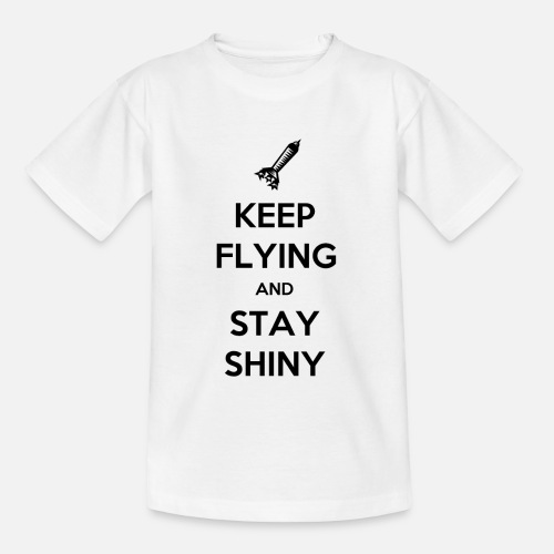 Keep Flying and Stay Shiny - Kinderen T-shirt