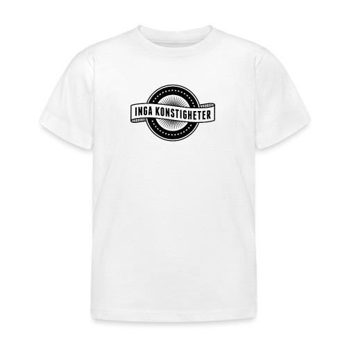 Inga Konstigheters klassiska logga (ljus) - T-shirt barn