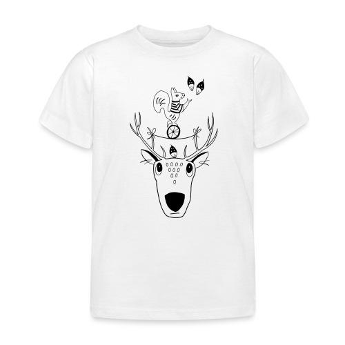 Rentier Eichhörnchen Acrobat Naturliebe Geschenk - Kinder T-Shirt