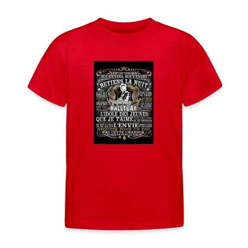 Johnny hallyday diamant peinture Superstar chanteu - T-shirt Enfant