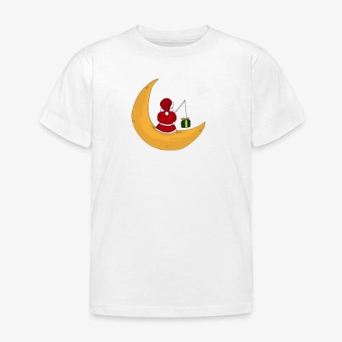 Santa sur un croissant de lune - Kids' T-Shirt