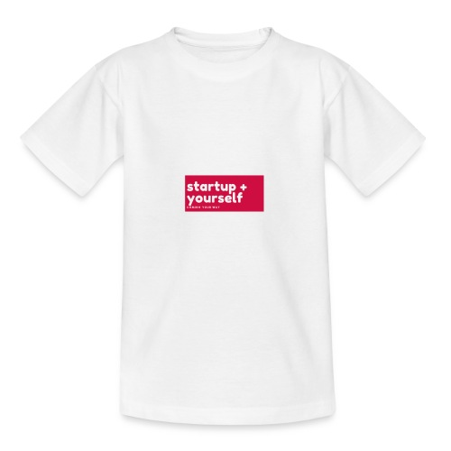 Red White Fashion Logo startup yourself motivation - Kinder T-Shirt