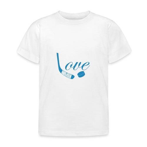hockey love babyblue - Børne-T-shirt